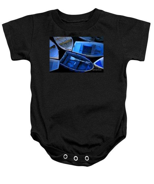 Blue Boats Baby Onesie