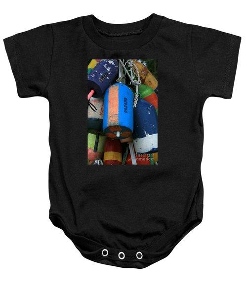 Blue Buoys Baby Onesie