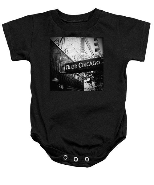 Blue Chicago Nightclub Baby Onesie