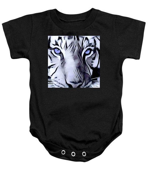 Blue Eyed Tiger Baby Onesie