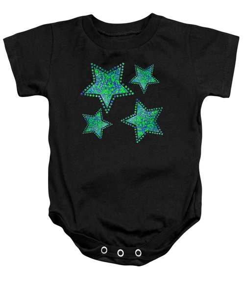 Blue Green Splatter Baby Onesie