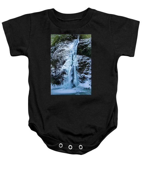 Blue Ice And Water Baby Onesie