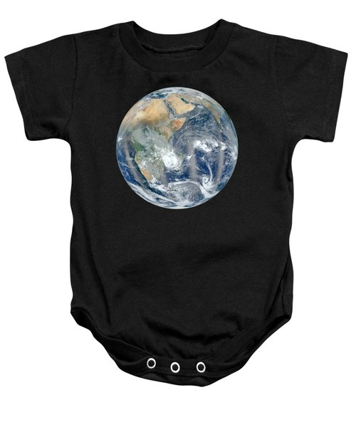 Blue Marble 2012 - Eastern Hemisphere Of Earth Baby Onesie by Nikki Marie Smith