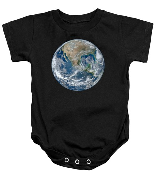 Blue Marble 2012 Planet Earth Baby Onesie by Nikki Marie Smith