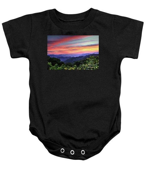 Blue Ridge Mountain Color Baby Onesie