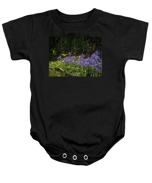 Baby Onesie featuring the photograph Bluebells In Kilrush Town by James Truett