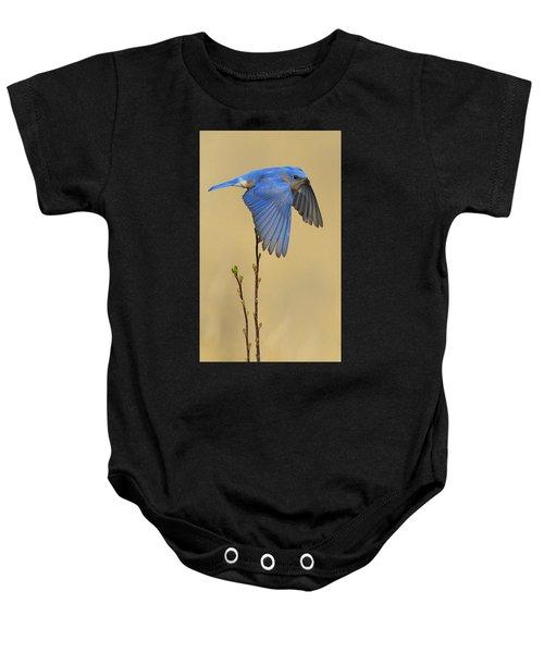 Bluebird Takes Flight Baby Onesie
