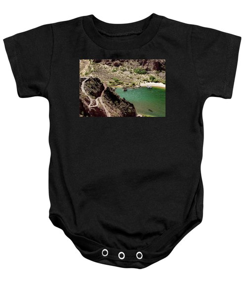 Boat Beach On The Colorado River Baby Onesie