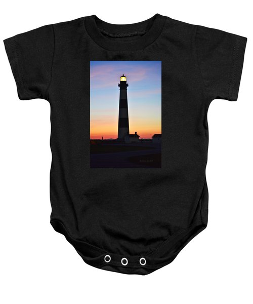 Bodie Lighthouse At Sunrise Baby Onesie