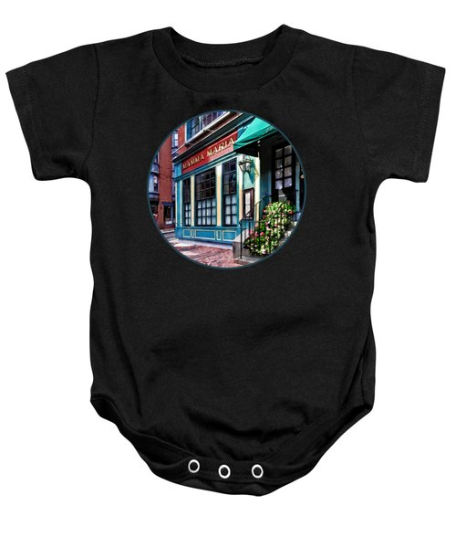 Boston Ma - North End Restaurant Baby Onesie
