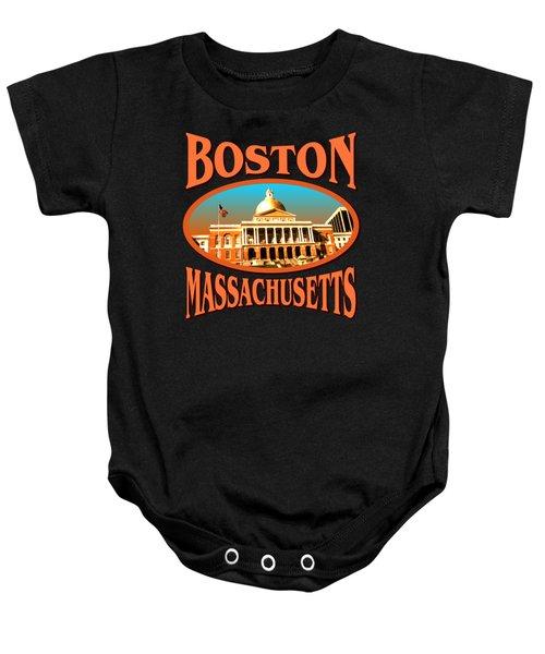Boston Massachusetts Design Baby Onesie
