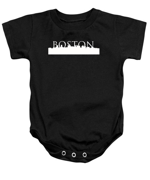 Boston Skyline Outline Logo 2 Baby Onesie