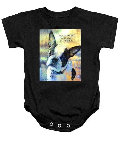 Boston Terrier Idiot Baby Onesie