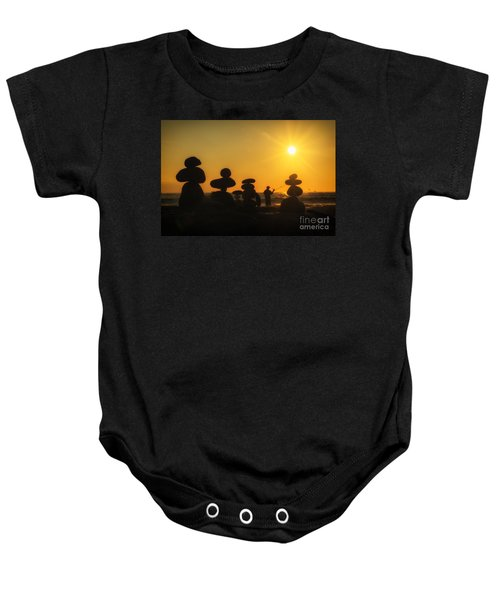 Boulders By The Sea Baby Onesie
