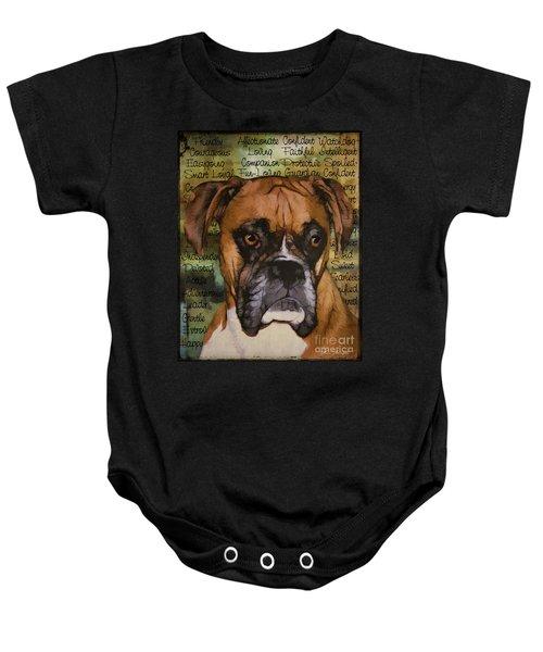 Boxer Character Baby Onesie