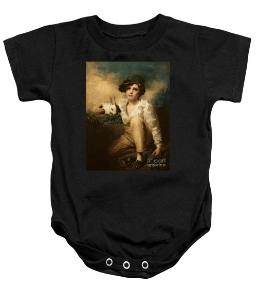 Boy And Rabbit Baby Onesie
