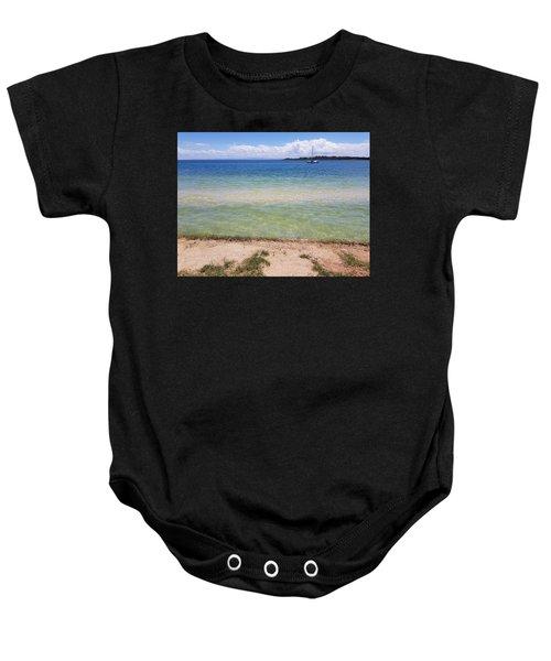 Bribie Ocean  Baby Onesie