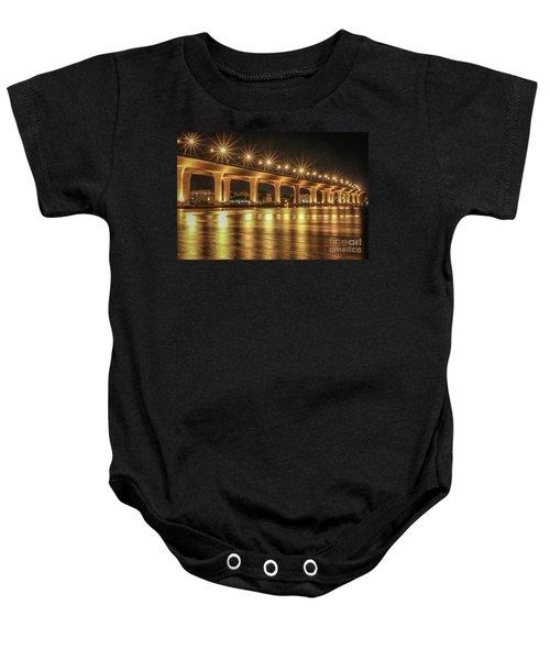 Bridge And Golden Water Baby Onesie