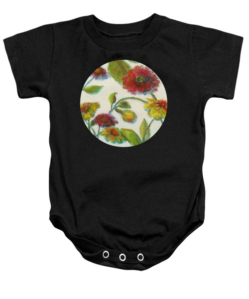 Bright Contemporary Floral  Baby Onesie