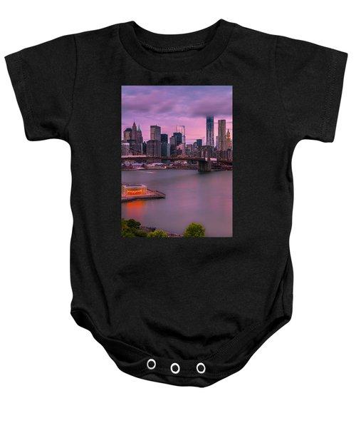 Brooklyn Bridge World Trade Center In New York City Baby Onesie