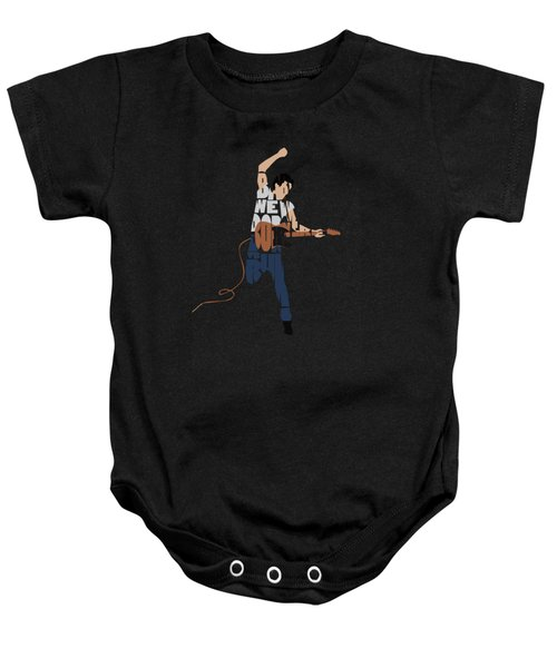 Bruce Springsteen Typography Art Baby Onesie