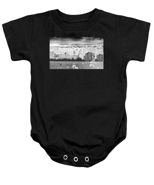 Bubbles And The City Baby Onesie