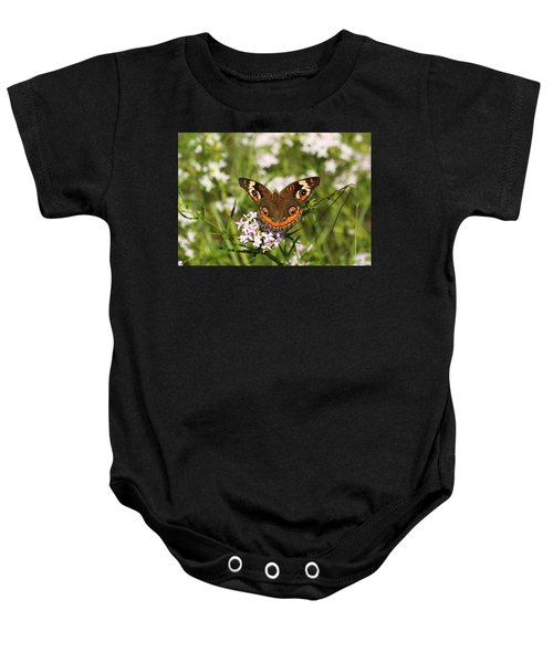 Buckeye Butterfly Posing Baby Onesie