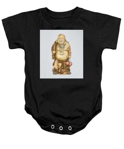 Baby Onesie featuring the mixed media Buddha by TortureLord Art