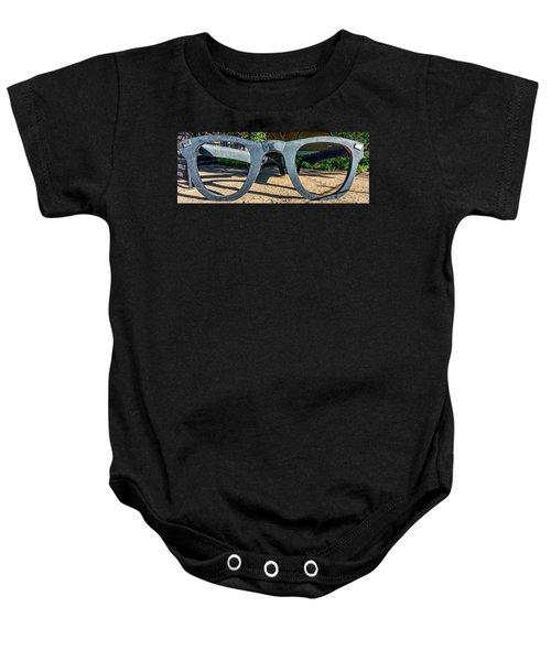 Buddy Holly Glasses Baby Onesie