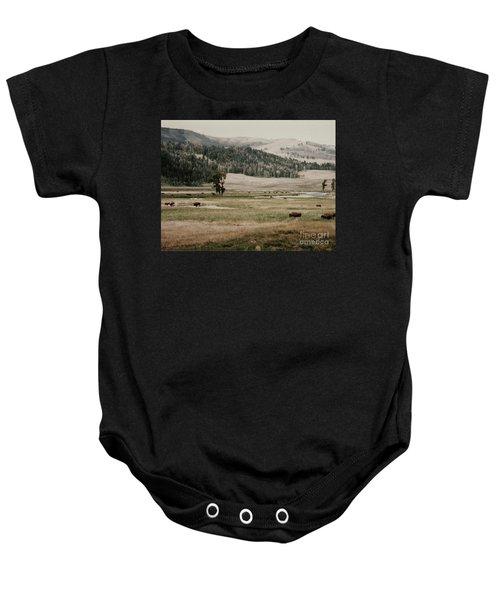 Buffalo Roam Baby Onesie