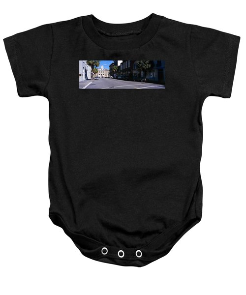 Buildings On Both Sides Of A Road Baby Onesie