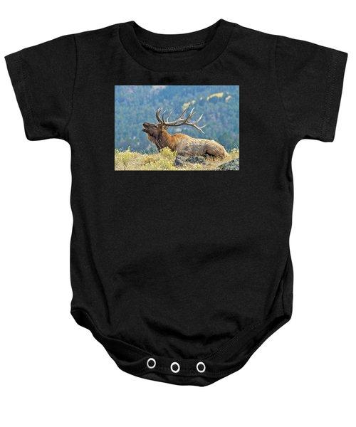 Bull Elk Bugling Baby Onesie