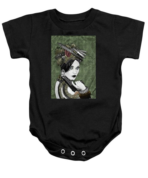Bullets Is My Business Baby Onesie