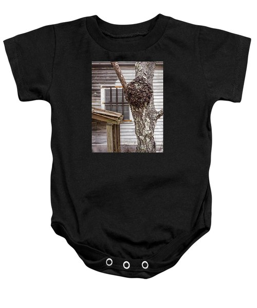 Burl And Window Baby Onesie