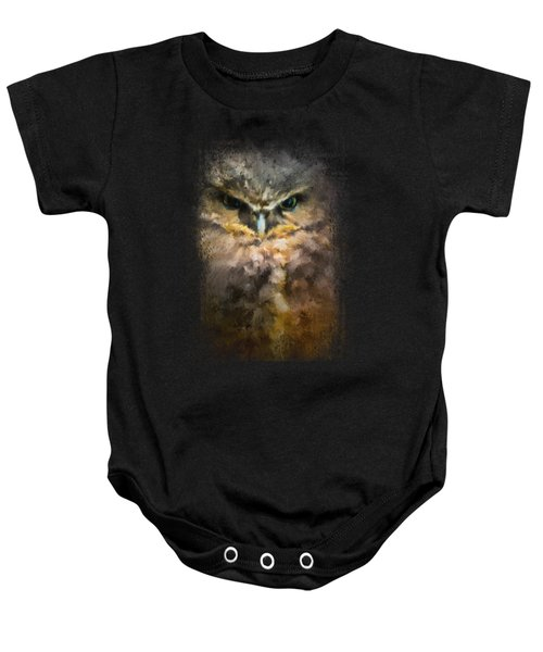 Burrowing Owl Baby Onesie by Jai Johnson