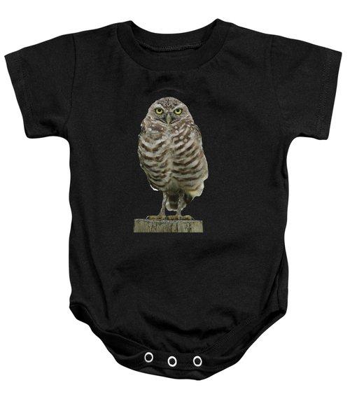 Burrowing Owl Lookout Baby Onesie