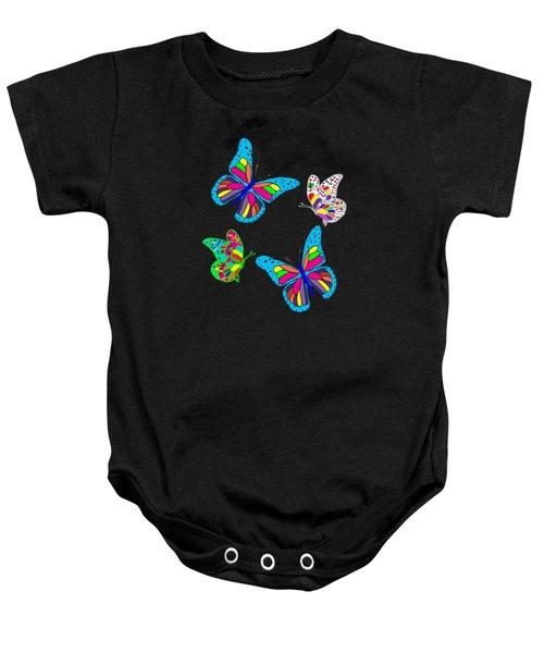 Butterflies Baby Onesie