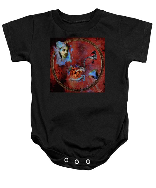 Butterfly Circle Of Love Baby Onesie