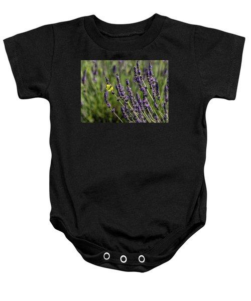 Butterfly N Lavender Baby Onesie