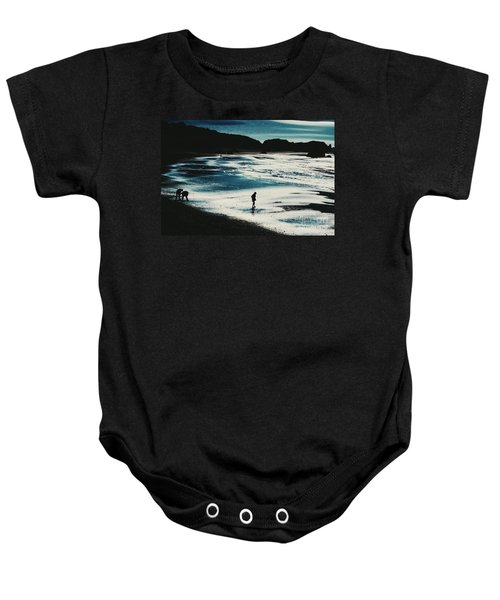 By The Light Of The Silvery Moon Baby Onesie