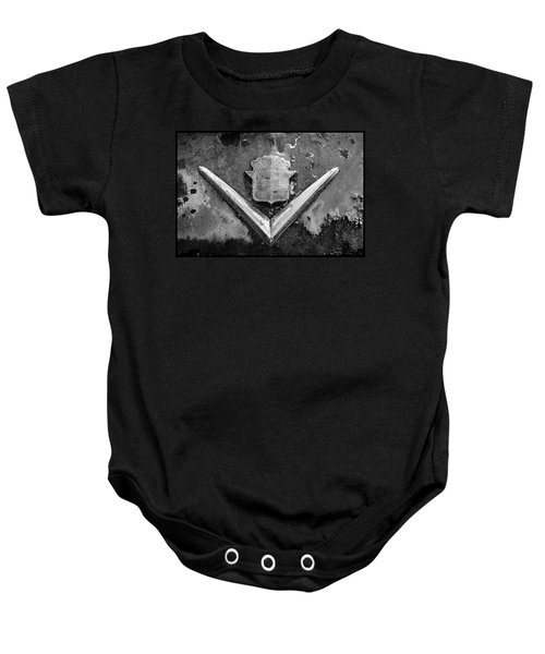 Cadillac Emblem On Rusted Hood Baby Onesie