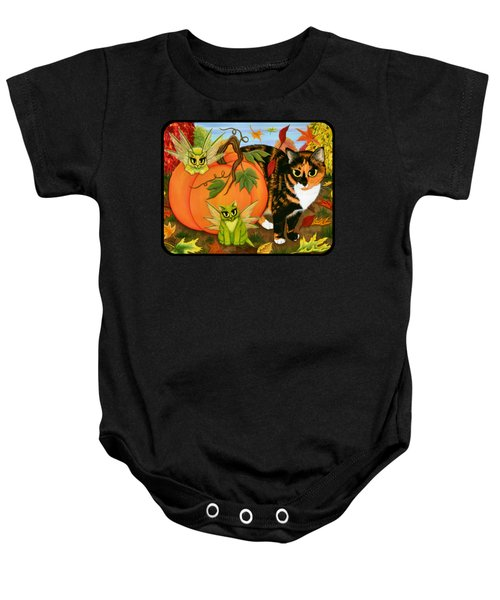 Calico's Mystical Pumpkin Baby Onesie