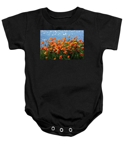 California Poppies By Richardson Bay Baby Onesie