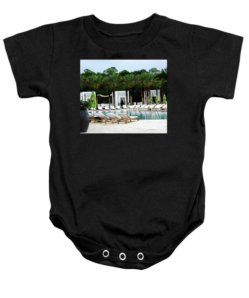Caliza Pool In Alys Beach Baby Onesie