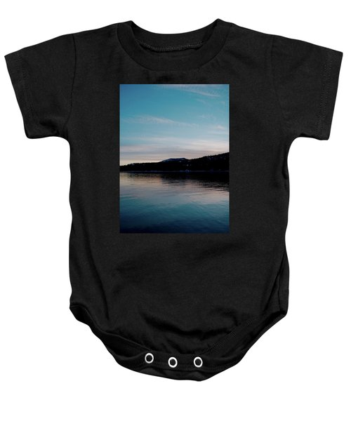 Calm Blue Lake Baby Onesie