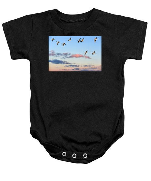 Canada Geese Migration Baby Onesie