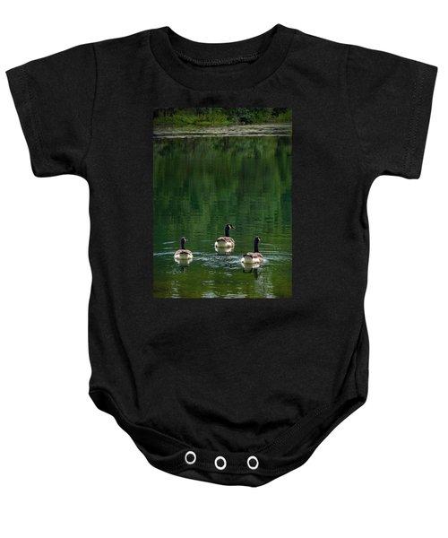 Canada Goose Trifecta Baby Onesie