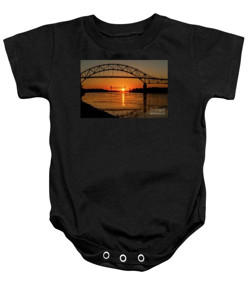 Cape Cod Canal Sunset Baby Onesie