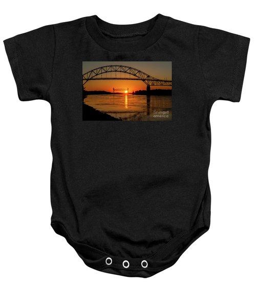 Cape Cod Canal Sunset Baby Onesie