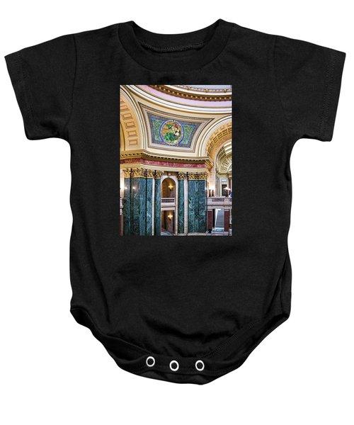 Capitol Rotunda -madison - Wisconsin Baby Onesie